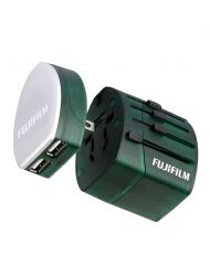 Fujifilm World Travel Adapter Dual USB 2.1 2100mA Charger  - Green